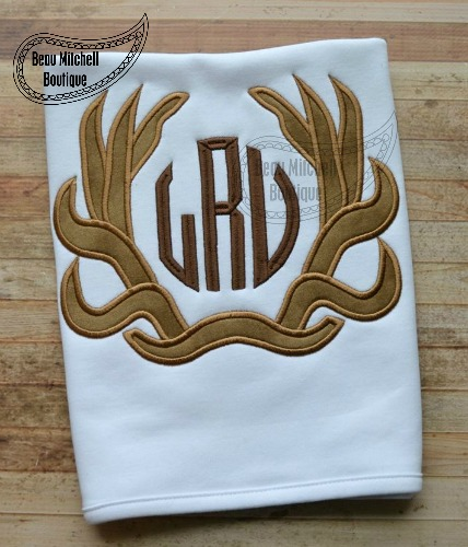 Embroidery Monogram Applique