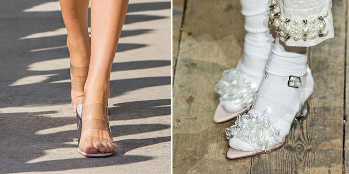 Διάφανα παπούτσια και φέτος την Άνοιξη και το Καλοκαίρι