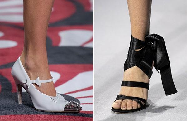 Κορδέλες και φιόγκοι στα παπούτσια