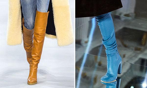 Δερμάτινες μπότες σε διάφορα χρώματα