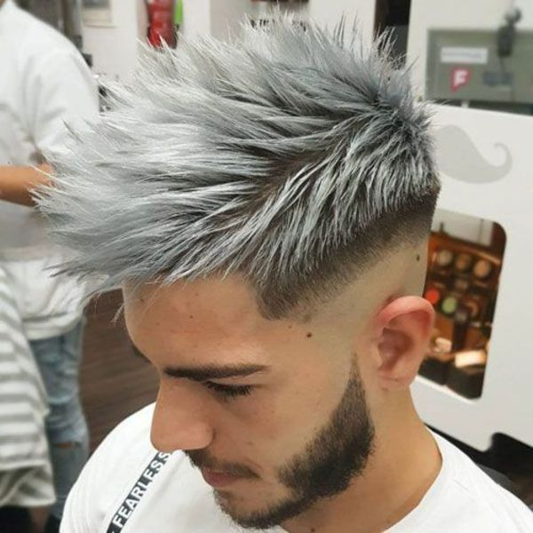 Mens Silver Hair Highlights