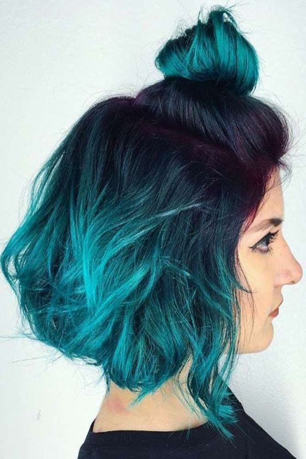 Teal Hair Highlights