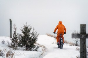 fat bike rider on the Maah Daah Hey trail