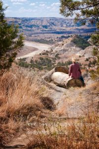 A scenic perch over the Little Missouri River at the Theodore Roosevelt National Park.