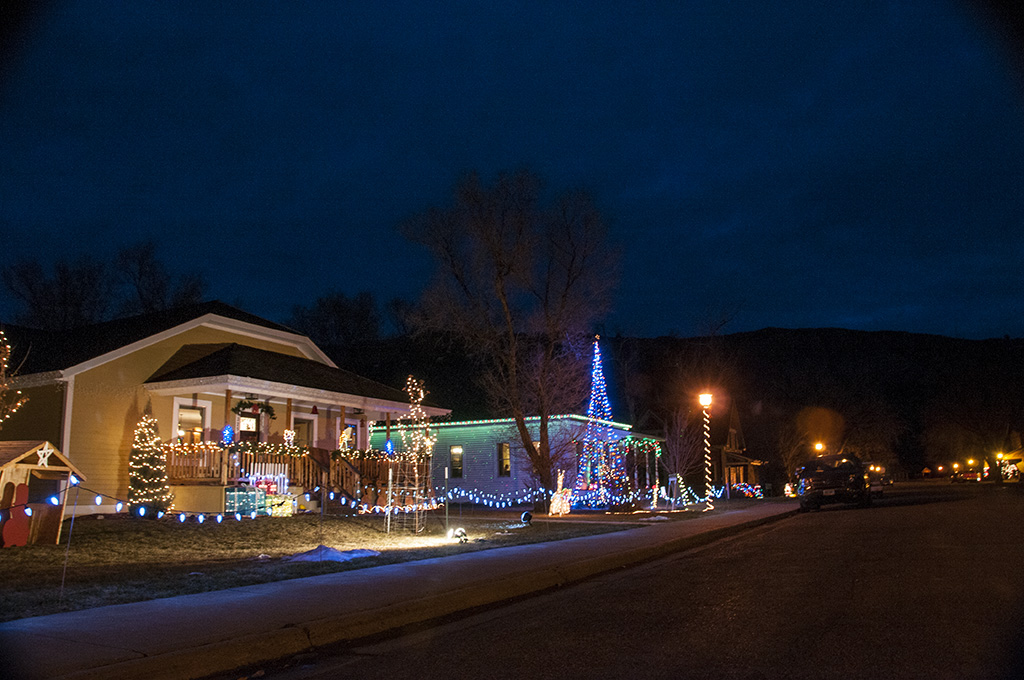 A brightly lit home in Medora.