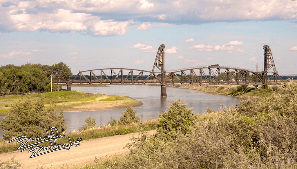 The Snowden Lift Bridge in Montana is just 2 miles inside the border from North Dakota