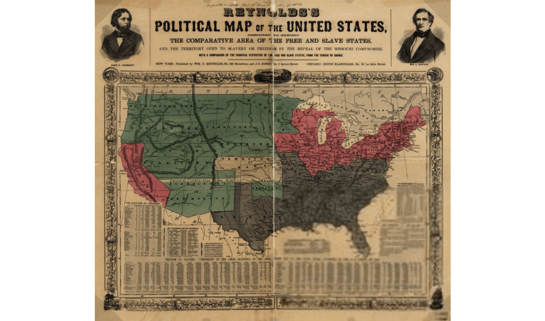 Political map of the United States from the Library of Congress