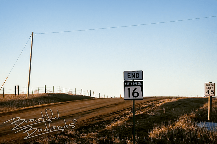 North Dakota Highway 16 ends