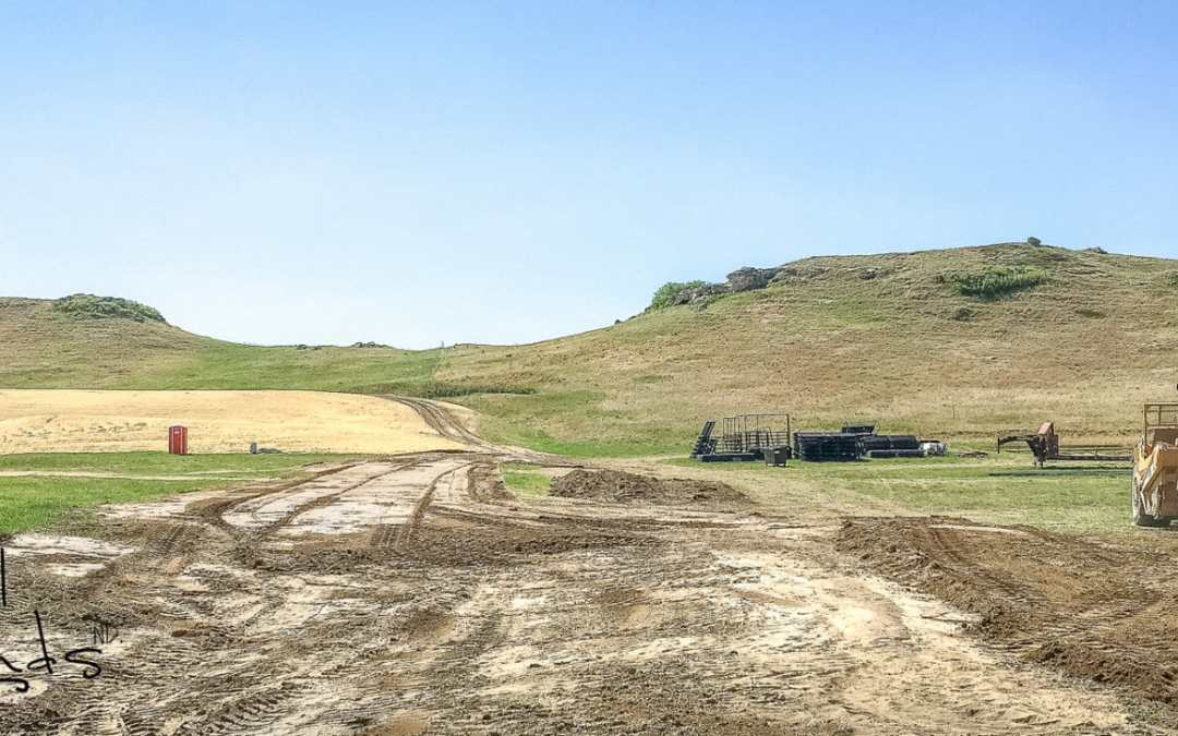 Snapshot Saturday Building the New Killdeer Rodeo Grounds