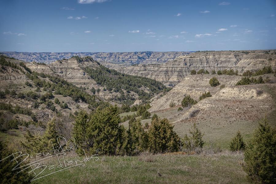 Badlands ridges