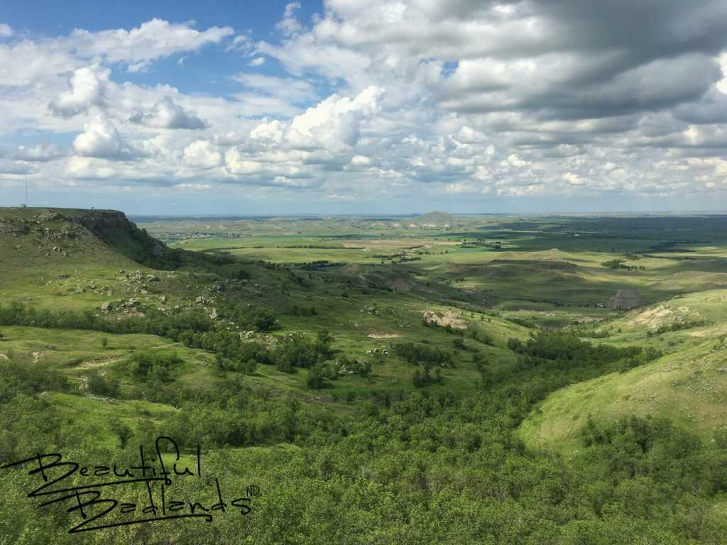One of the best places to get a view of summer green in western North Dakota is atop Sentinel Butte.