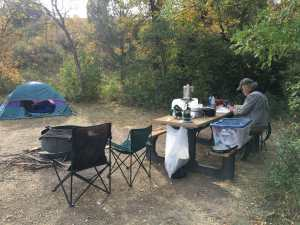Elkhorn campsite in the North Dakota Badlands