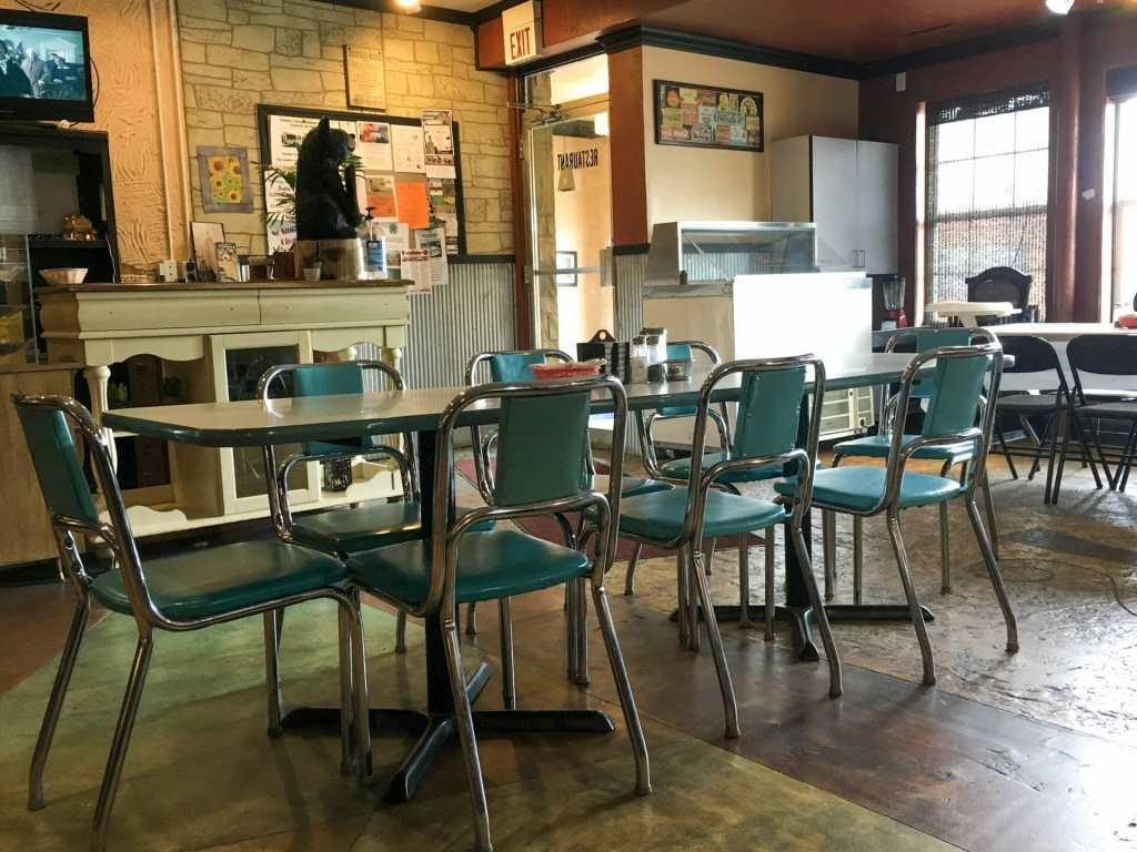 Buzzy Cafe boasts a homey atmosphere and eclectic decor.