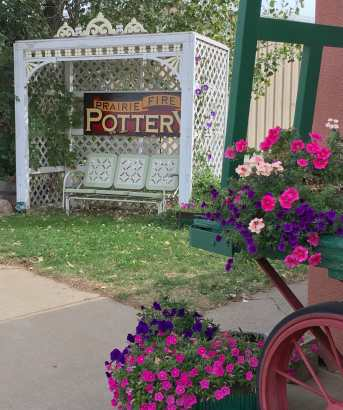 Sit Down and Rest Awhile at Prairie Fire Pottery, Beach, North Dakota