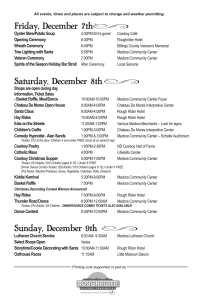 Medora Old Fashioned Christmas schedule