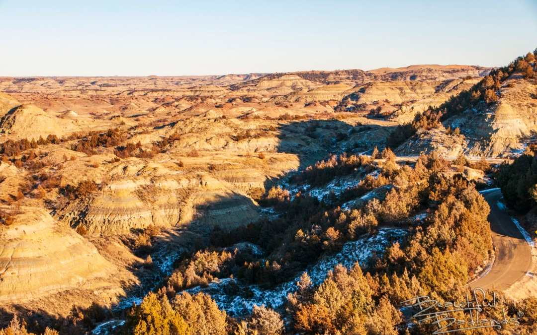 Two easy ways to get outside. Short trails at Medora to grab fresh air and exercise