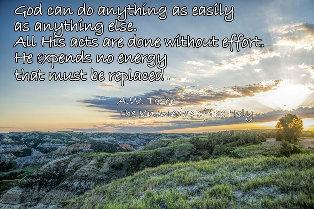 Tozer quote achenbach trail sunset