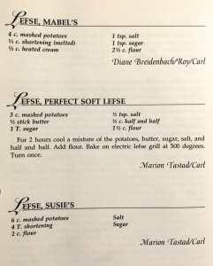 Three Lefse Recipes