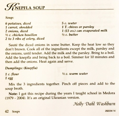 Knepfla Soup, The Real Deal!