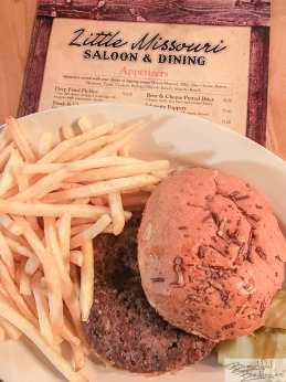 Bison Burger, A Favorite at Little Missouri Saloon, Medora, North Dakota