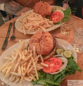 Bison Burgers and Fries at Little Missouri Saloon & Dining in Medora, North Dakota!