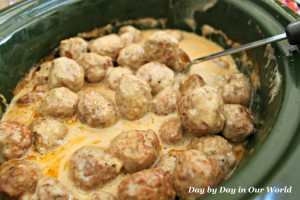 Crock Pot Swedish Meatballs From Day by Day in Our World