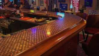 One Of A Kind Penny Bar at the PDQ Club, Arnegard, North Dakota.