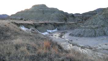 muddy hillside