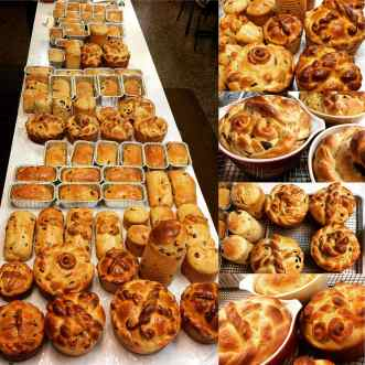 An assortment of Panska, Ukrainian Easter Bread, baked by Four Corners cafe & Catering, Fairfield,North Dakota.