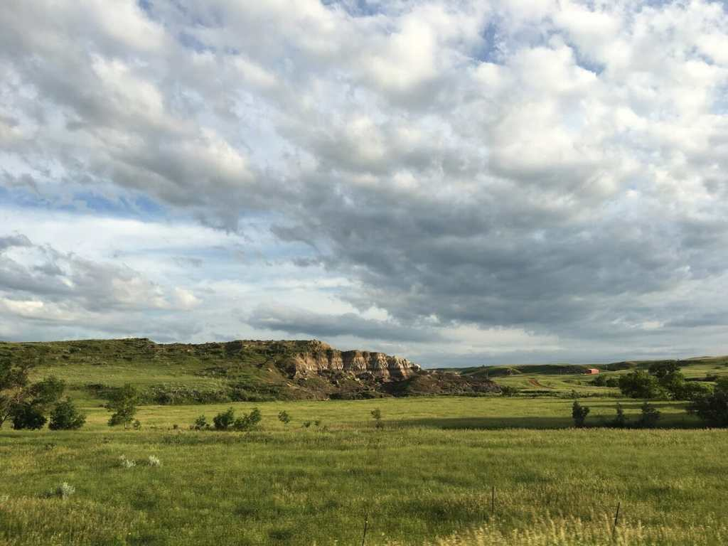 Bluffs in Bowman County, North Dakota