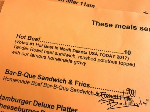 Hot Beef Sandwiches! Some of the Best at Cowboy Cafe, Medora, North Dakota