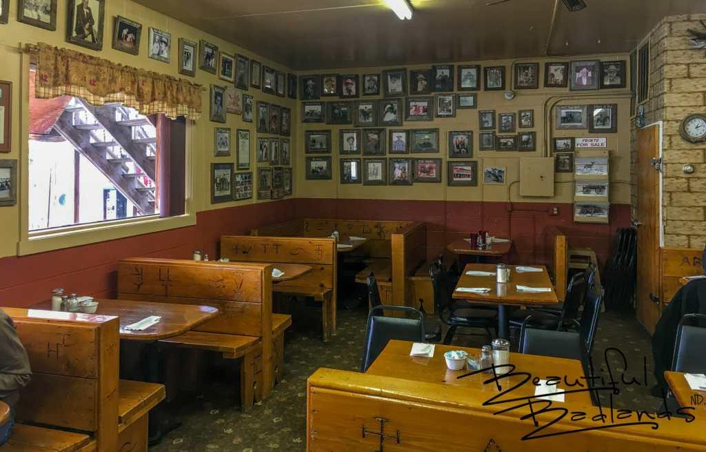 Brand and Photos of Local Ranch History at the Cowboy Cafe, Medora, North Dakota