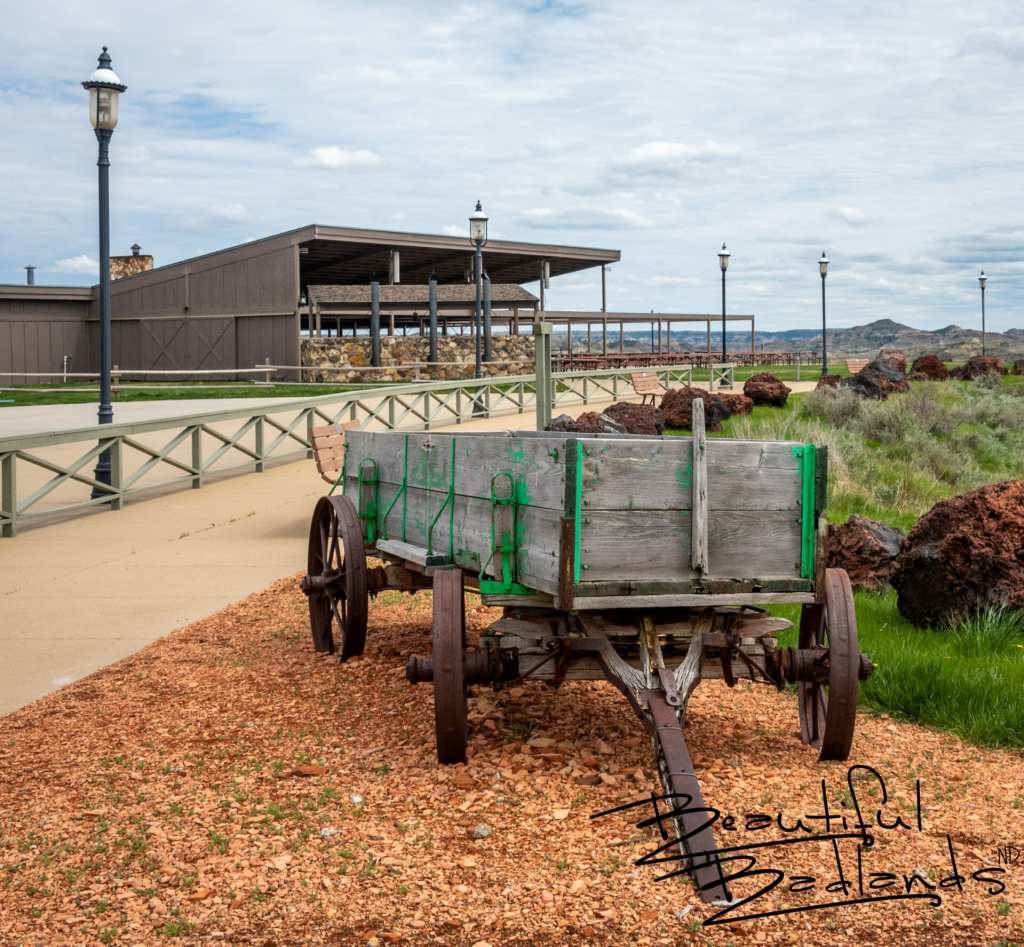 The grounds are cleaned and ready to go for the upcoming opening of the Pitchfork Fondue in Medora, North Dakota. Mid-May