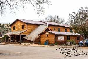 Amble Inn and the Western Edge Books, Artwork & Music Store in Medora, North Dakota
