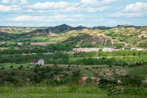 Looking East, From Atop Tjaden Terrace. Medora, North Dakota