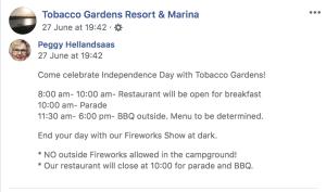 Independence Day with Tobacco Gardens! Watford City, North Dakota