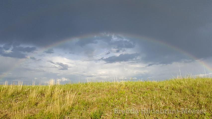 Rainbow After the Rains in Theodore Roosevelt National Park, North Dakota by Brenda Hildebrant-Messer