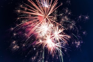 Happy Birthday USA Fourth of July! Fireworks!