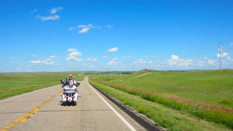 motorcycle on open highway
