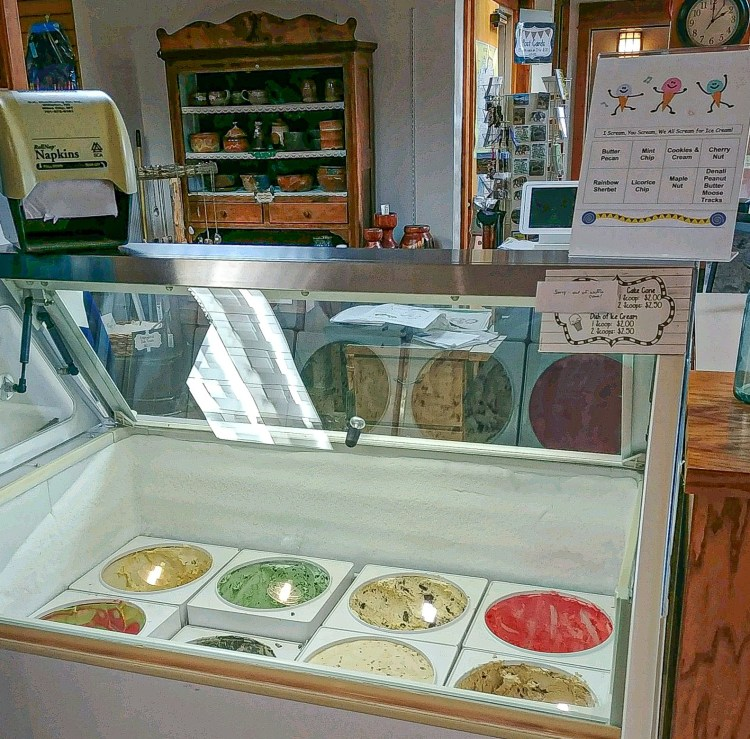 Ice Cream, Books, and Gift Items at the Long X Trading Post Visitor Center/Pioneer Museum of McKenzie County, Watford City, North Dakota