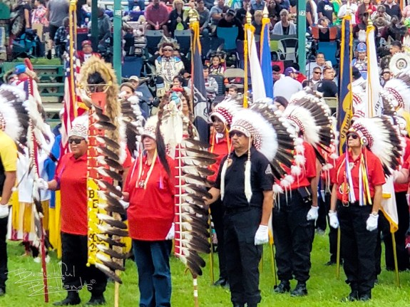 veterans at little shell powwow