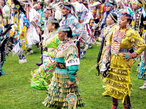Women's jingle dance powwow