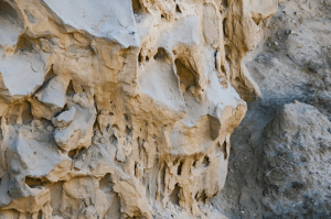 mystery of the rock faces