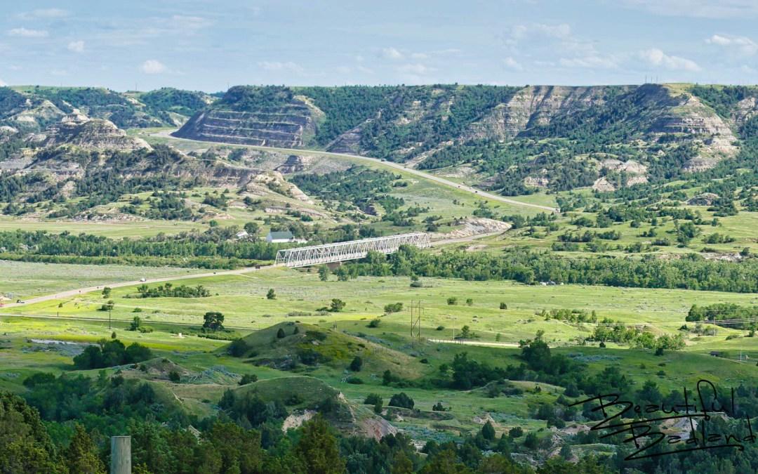 Long X Bridge Over the Little Missouri, North Dakota