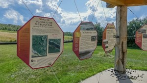 Historical information of this important area in central North Dakota is presented near the beginning of the Nux Baa Ga Trail at Indian Hills State Recreation Area, west of Garrison, North Dakota.