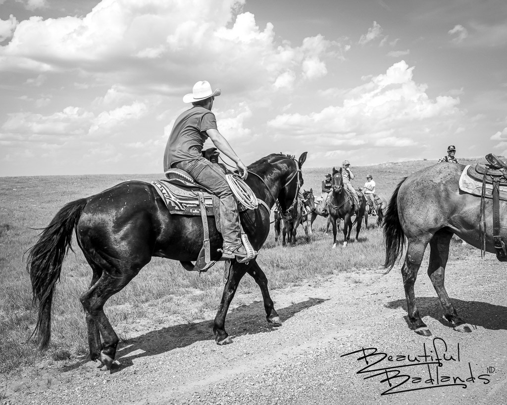 Cowboys at Spring Roundup in the North Dakota Badlands