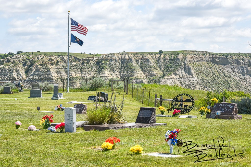 On a bluff high above the Little Missouri River, overlooking the Chateau de Mores and Medora, is the Medora Cemetery.