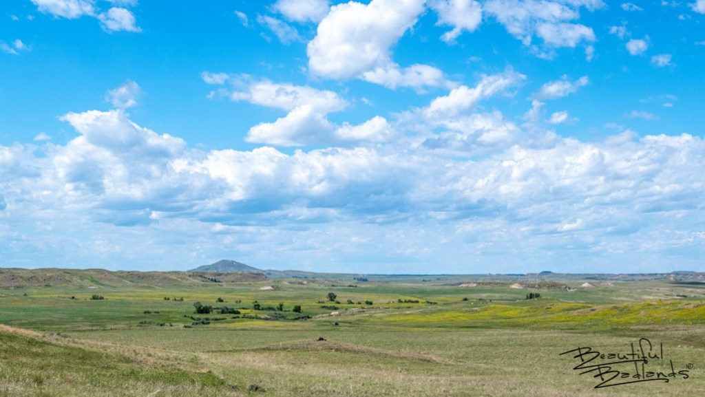 Camels Hump, in the distance, is a major landmark in western North Dakota. It guided General Custer and his troops as they moved beneath it on their westward march to the Little Big Horn in Montana.