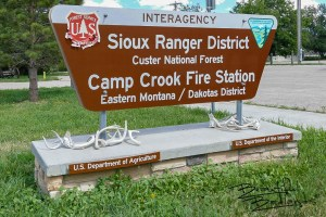 The US Forest Service Office, Camp Crook, South Dakota is part of the Custer National Forest.
