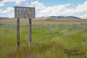 Follow the Sign to Campgrounds and Capitol Rock in Extreme Eastern Montana, not far from Camp Crook, South Dakota.